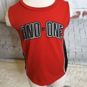 3/$15 And1 red black sleeveless athletic tank top